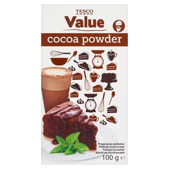 Tesco Value Kakaový prášok so zníženým množstvom tuku 100 g