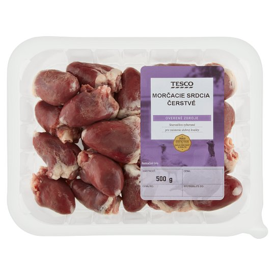 Tesco Fresh Turkey Hearts 500 g