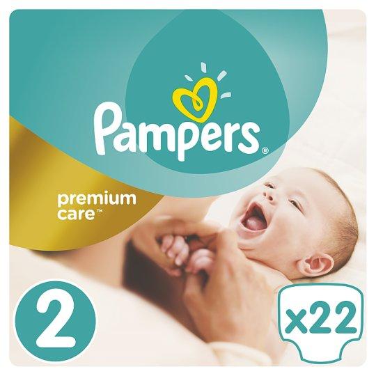 Pampers Premium Care Detské Jednorazové Plienky, Veľkosť 2 (Mini) 3 - 6 kg, 22 Kusov