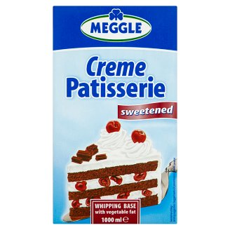 Meggle Creme Patisserie Preparation with Vegetable Fat for Whipping Sweetened 1 L