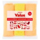 Tesco Value Microfibre Universal Cloths 3 pcs