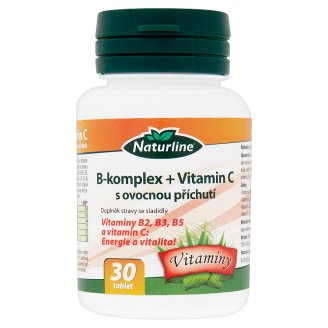 Naturline B-Complex + Vitamin C Nutritional Supplement with Fruit Flavour 30 Tablets