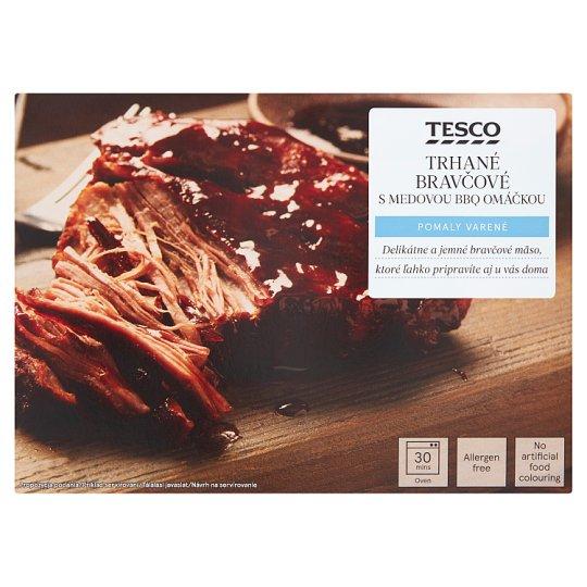 Tesco Finest Sous - vide trhané bravčové s medovou omáčkou 300 g + 50 g
