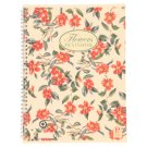 Pigna Nature Flowers Spiral Lined Notebook A4