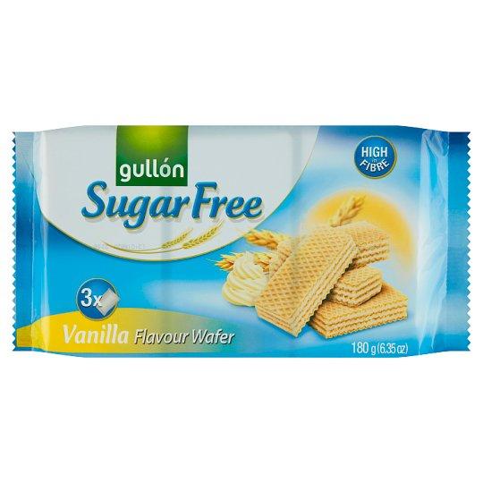 Gullón Vanilla Wafers Filled with Vanilla Cream Sugar Free 210 g
