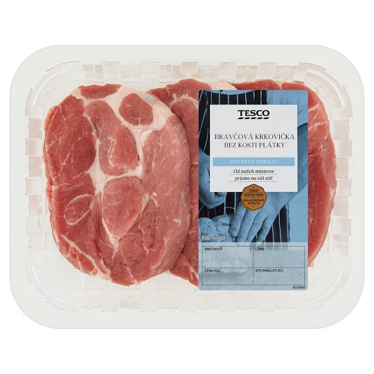 Tesco Pork Neck Boneless Slices - Cooled 440 g
