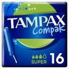 Tampax Compak Super Tampons Applicator 16 X