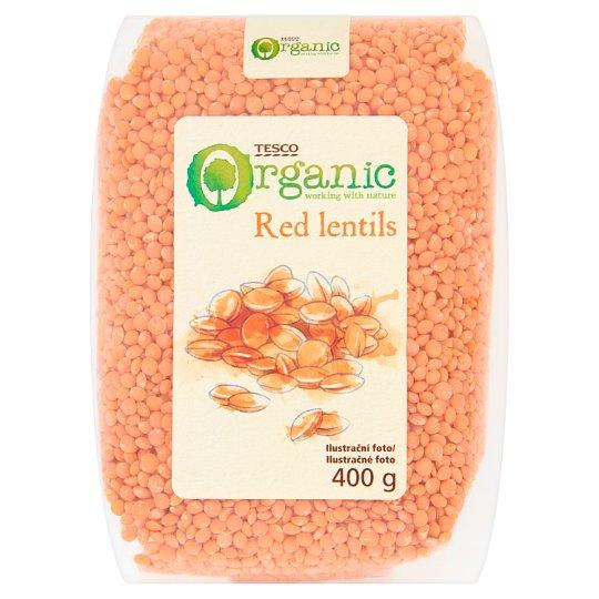 Tesco Organic Červená šošovica, drobnozrnná, lúpaná 400 g