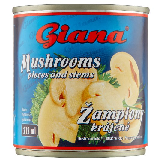 Giana Šampiňóny krájané v slanom náleve 200 g