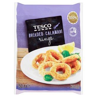 Tesco Pieces of Calamari Coated in Breadcrumbs Deep-Frozen 250 g