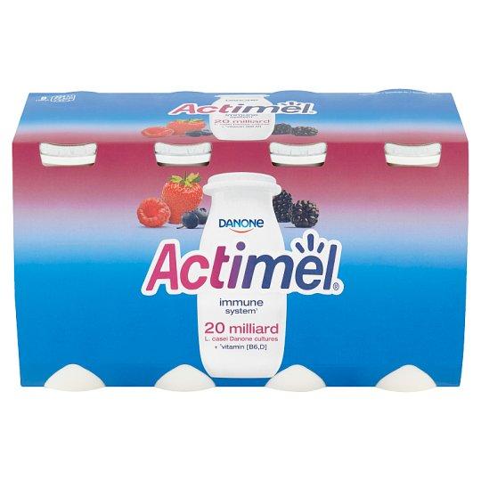 Danone Actimel Yoghurt Milk with Vitamins B6 and D - with Wild Berries 8 x 100 g