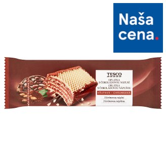 Tesco Wafer with Chocolate Filling 47 g