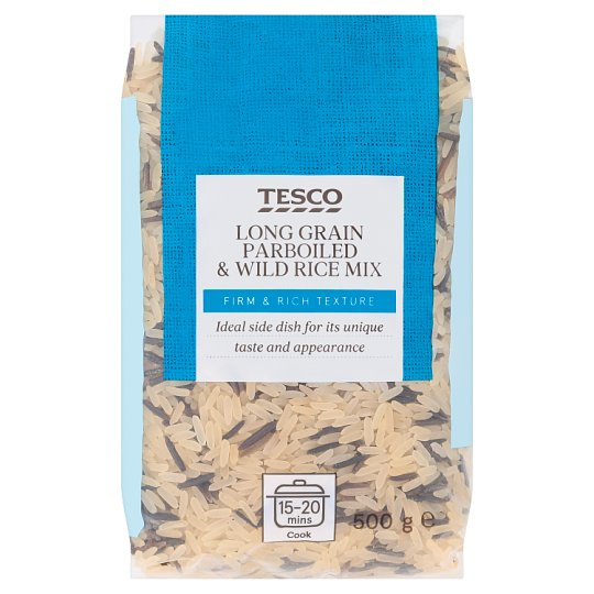 Tesco Long Grain Parboiled & Wild Rice Mix 500 g