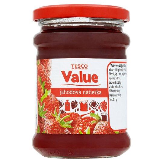 Tesco Value Jahodová nátierka 270 g