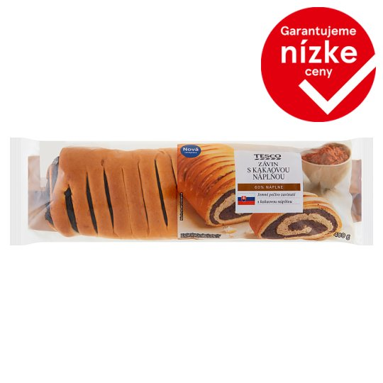 Tesco Strudel with Cocoa Filling 400 g