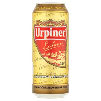 Urpiner Exlusive 16° Exclusive Pale Lager 500 ml