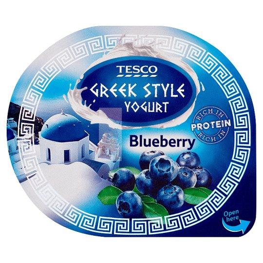 Tesco Greek Style Yogurt Blueberry 140 g
