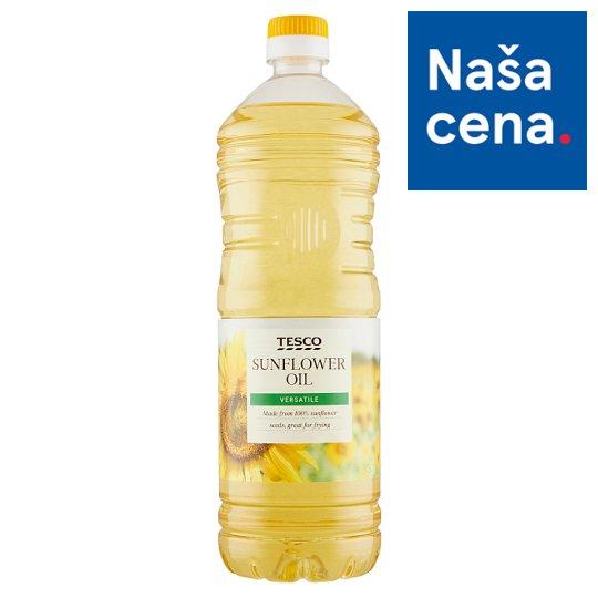 Tesco Rafinovaný jedlý rastlinný olej slnečnicový 1 l