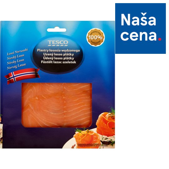 Tesco Smoked Salmon Slices 100 g