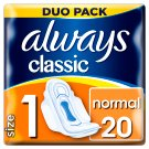 Always Classic Normal Sanitary Towels Wings 20x