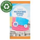 Tesco Microfibre Sponge Cloths 3 pcs