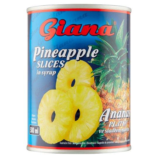 Giana Ananás plátky v sladkom náleve 565 g
