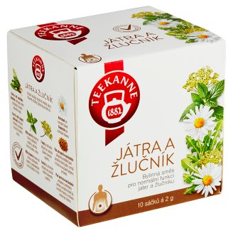 TEEKANNE Liver and Gall Bladder, Herbal Tea, 10 Tea Bags, 20 g