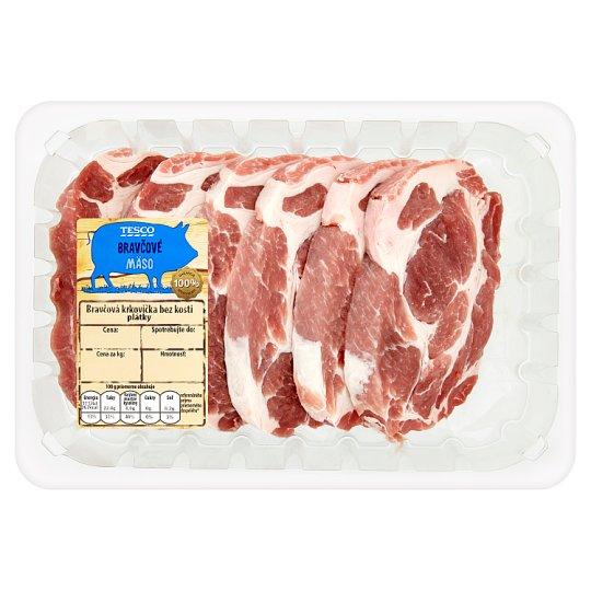 Tesco Pork Neck Boneless Slices 800 g