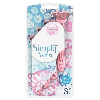 Gillette Simply Venus 3 Women's Disposable Razors, 8 Pack
