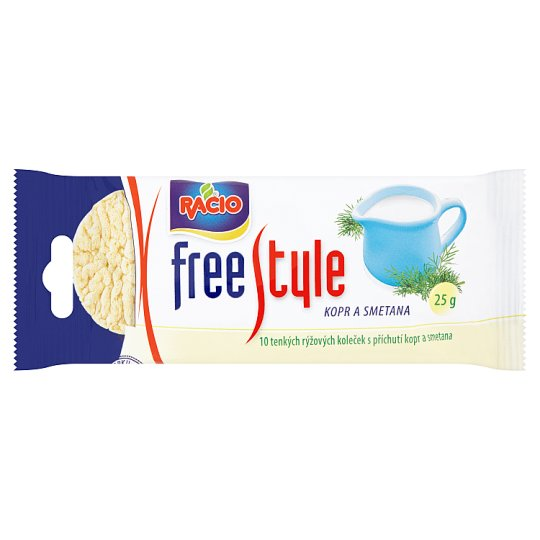 Racio Free Style Rice Breads Flavoured with Dill and Cream 25 g