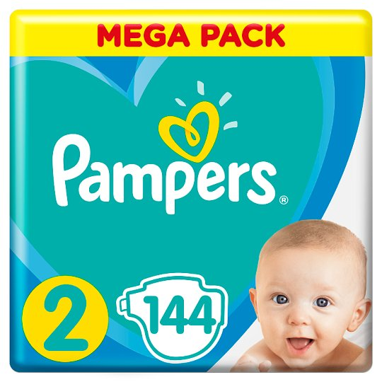 Pampers Diapers Size 2, 144 Nappies, 4-8 kg