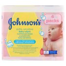 Johnson's Extra Sensitive detské vlhčené obrúsky 224 ks