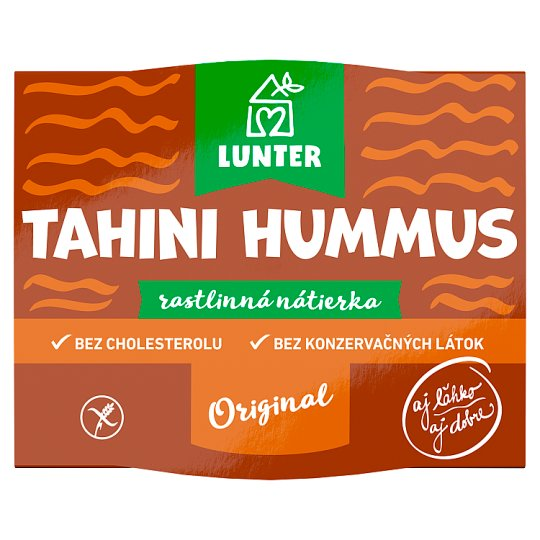 Lunter Tahini Hummus rastlinná nátierka 115 g