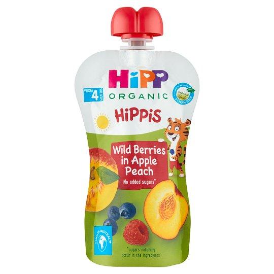 HiPP HiPPis Organic 100% Apple, Peaches, Forest Fruits 100 g