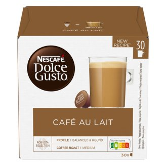 NESCAFÉ Dolce Gusto Café au Lait - Coffee in Capsules - 30 Capsules Packed