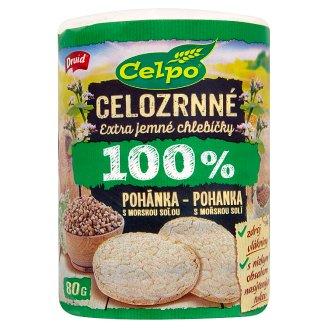 Druid Celpo Celozrnné extra jemné chlebíčky 100 % pohánka s morskou soľou 80 g