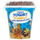 Tesco Vanilla Yoghurt with Chocolate Drops 100 g + 7 g