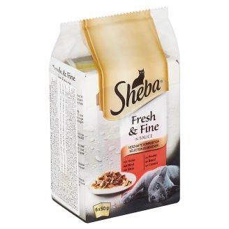 Sheba Fresh & Fine Exkluzívny výber v šťave 6 x 50 g