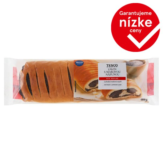 Tesco Strudel with Poppy Seed Filling 400 g