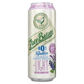 Zlatý Bažant Radler 0.0% Levander - Black Currant Light 500 ml