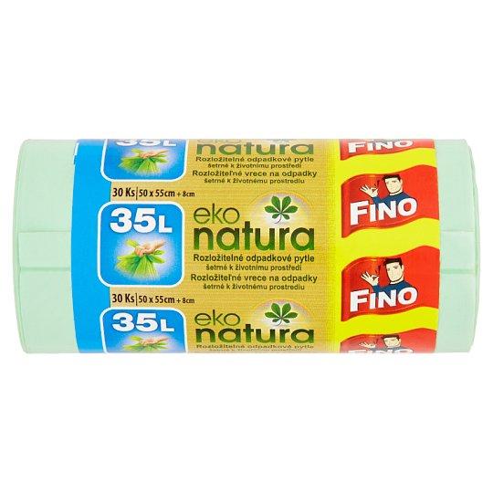 Fino Eko Natura Biodegradable Waste Sack 35 L 30 pcs