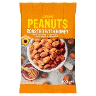 Tesco Pražené lúpané arašidy v mede 200 g