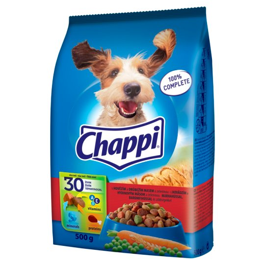 Chappi S hovädzím a hydinovým mäsom a zeleninou 500 g