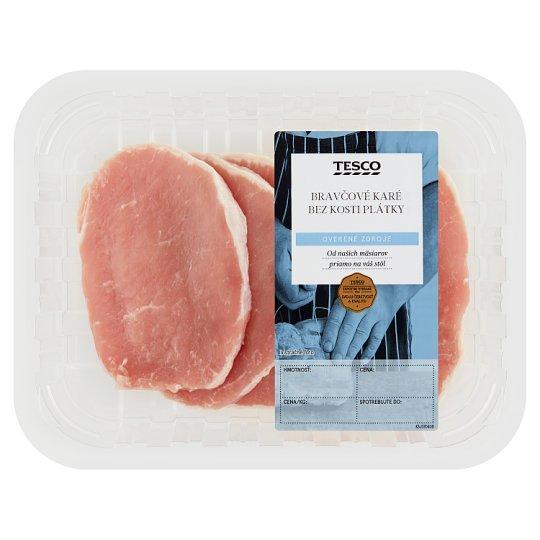Tesco Bravčové karé bez kosti plátky na minútku - chladené 0,360 kg