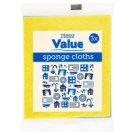 Tesco Value Sponge Cloths 3 pcs