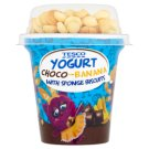 Tesco Chocolate-Banana Yoghurt with Sponge Biscuits 100 g + 7 g