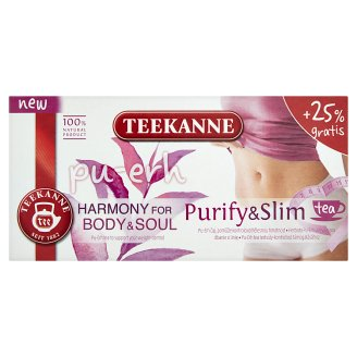 TEEKANNE, Hamorny for Body & Soul, Purify & Slim, Pu-erh, 20 Tea Bags, 1.6 g