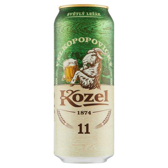 Velkopopovický Kozel 11% pivo výčapný ležiak svetlý 500 ml