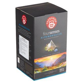 TEEKANNE Foursenses Alpenkräuter, výberový čaj, 20 pyramídových vrecúšok, 40 g