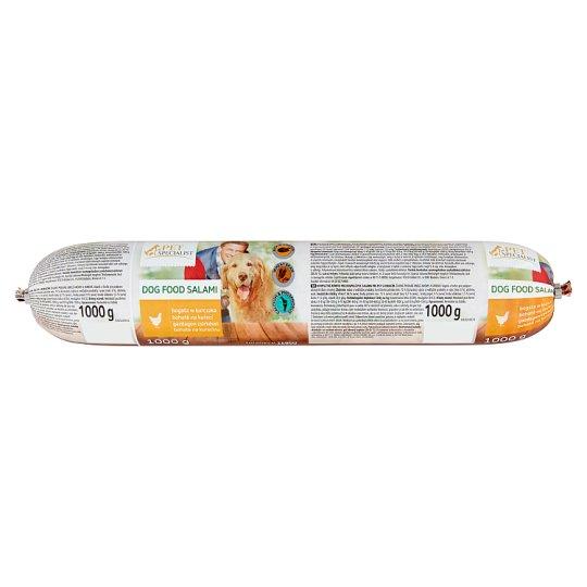 Tesco Pet Specialist Kompletné krmivo pre dospelé psy klobásy bohaté na kuracinu 1000 g